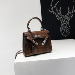 LUYO Crocodile Lock Box Alligator Luxury Handbags Women Crossbody Bags For Designer Shoulder Female Messenger Famous Brand Kelly-ivroe