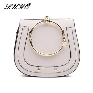 LUYO Ring Saddle Casual Girls Shoulder Bag Small Handbag Crossbody For Women Messenger Bolsa Feminina Famous Designer Cloe-ivroe