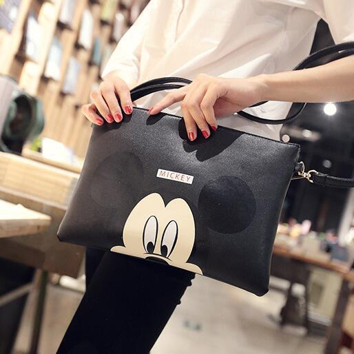 2018 Fashion New Handbags Quality PU leather Women bag Cartoon printing Hand bag Sweet Lady Envelope bag Shoulder Messenger Bags-ivroe