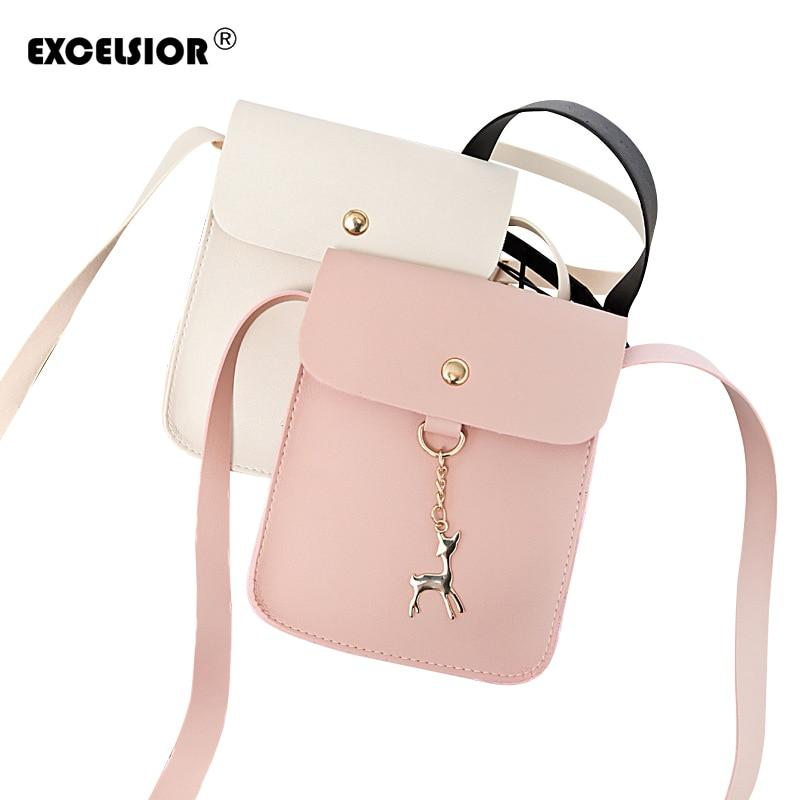 EXCELSIOR Women's Bags Shoulder Crossbody Leather Luxury Handbags Mini Women Messenger Bags Designer Famous Brands G1603-ivroe