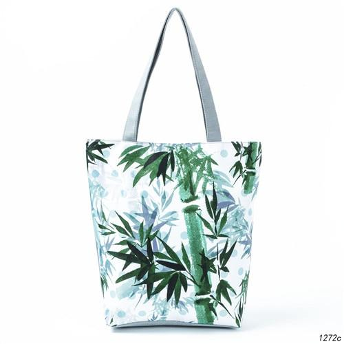 Miyahouse Ink-Wash Painting Design Shoulder Bag Women Blue Floral Printed Tote Handbag Canvas Summer Beach Bag Lady-ivroe