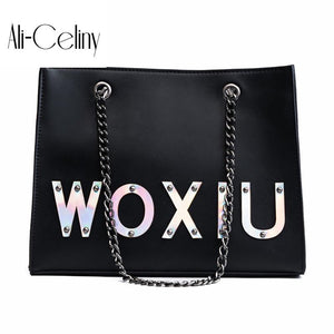 European style Retro Handbags Ladies Fashion Big Tote bag 2017 New Quality PU Leather Women bag Letter Shoulder Messenger Bag-ivroe