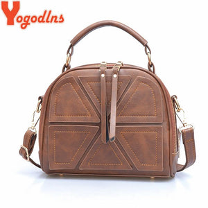 Yogodlns brand women cross-body bags for women shoulder messenger bags crocodile pattern artificial leather handbag with tassel-ivroe