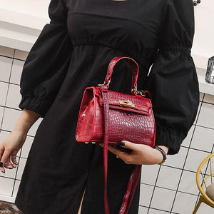 SINTIR High Quality Alligator Bag Women Leather Handbag Fashion Casual Tote Bags Shoulder Crossbody Bags Women Famous Brands Sac-ivroe