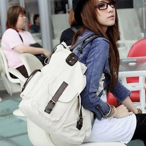 Large Pocket Casual Tote Women's Handbag Shoulder bags Canvas Leather Capacity Bags For Women-ivroe