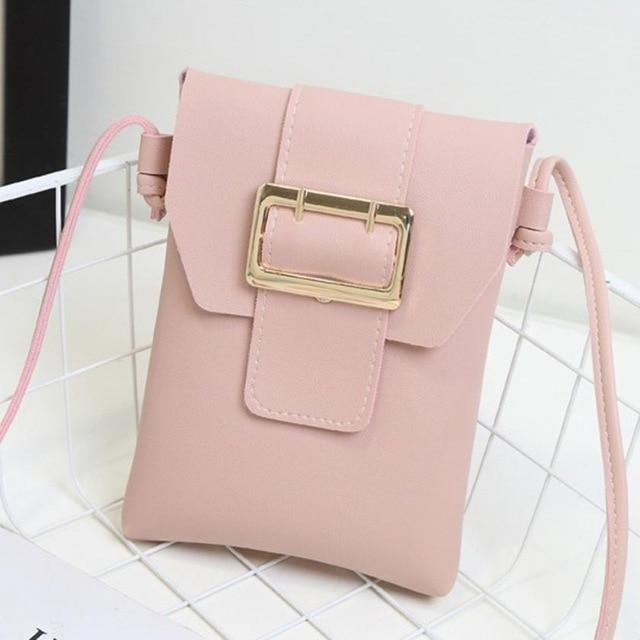 MOLAVE Handbag bag female Solid bags for Girl hasp Fashion Women Crossbody Leather Shoulder Bags Phone Bag Coin Purse May20-ivroe