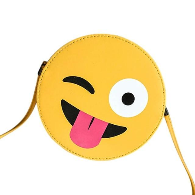Fashion Lovely Kid Face Emoji Face Expression Plush Toys Bags Yellow Girls Boys Children's Schoolbag Crossbody Bags-ivroe