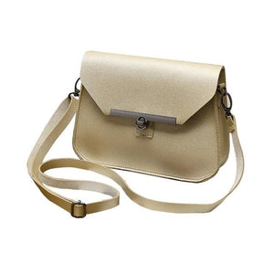 Fashion Korean Summer Women Messenger Bag Solid Color Leather Lock Catch Crossbody Shoulder Bags Ladies Girls For Gifts FA$B-ivroe