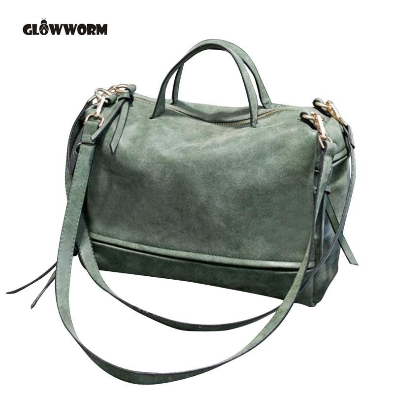 Brand Fashion Female Shoulder Bag Nubuck Leather women handbag Vintage Messenger Bag Motorcycle Crossbody Bags Women Bag-ivroe