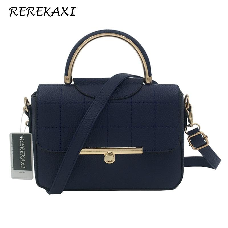 REREKAXI Fashion Women Handbag PU Leather Women's Shoulder Bag Lady's Crossbody Bag Female Flap Tote Designer Messenger Bags-ivroe