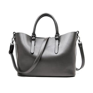Drop Shipping Large Capacity Pu Leather Handbags Women Shoulder Bag Casual Tote Bags Female Famous Brands Luxury Shoulder Bag-ivroe