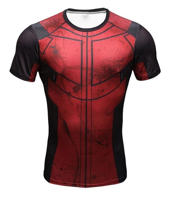 New Comic Superhero Compression Shirt Captain America Iron man Fit Tight G ym Bodybuilding T Shirt-ivroe