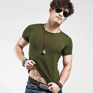 Men's Tops Tees 2018 summer new cotton v neck short sleeve t shirt men fashion trends fitness tshirt free shipping LT39 size 5XL-ivroe