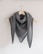 Twisted Tweed Merino Shawl / Light & Dark Grey