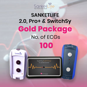 Gold ECG pack with 100 ECG Test
