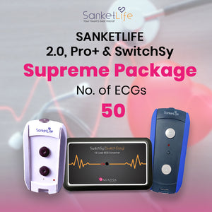 Supreme ECG pack with 50 ECG Tests