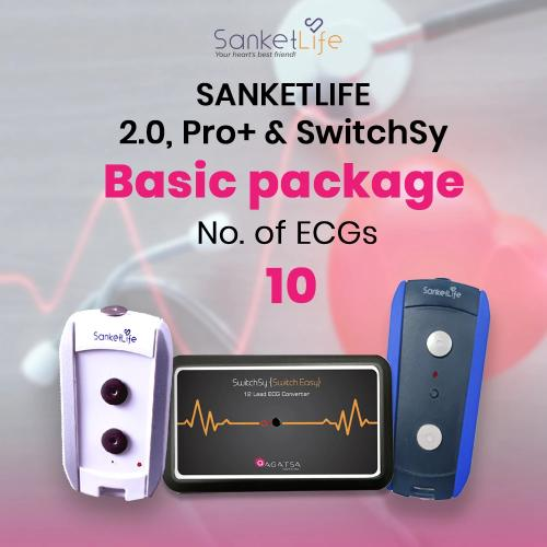 Basic ECG pack with 10 ECGs