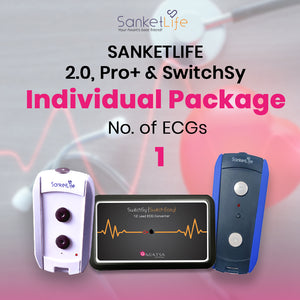 Individual  ECG pack with 1 ECG Test