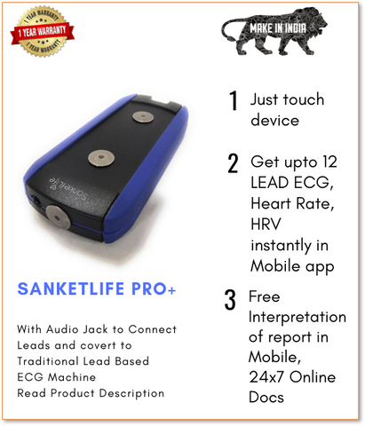 SanketLife Pro Plus - 12 LEAD ECG and  Stress Monitor for iPhone and Android