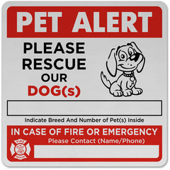 dog rescue alert sticker