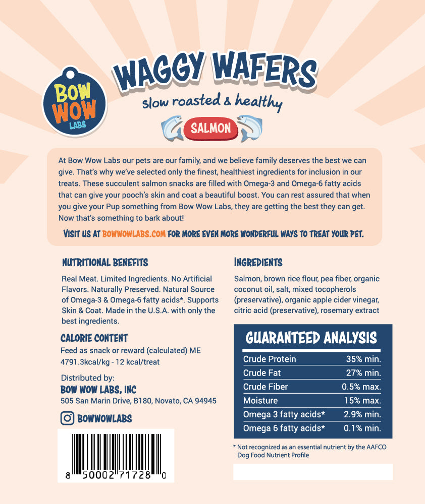 Waggy Wafers - 3-Pack All Natural Dog Treats