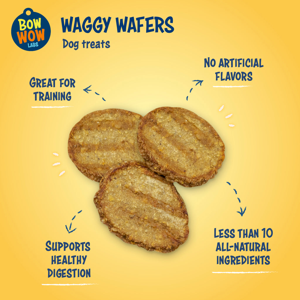 Waggy Wafers - 3-Pack All Natural Dog Treats - Wholesale