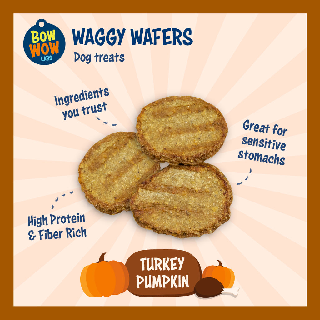 Waggy Wafers - Turkey Pumpkin All Natural Dog Treats