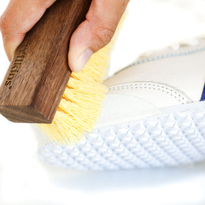 Wilkins Natural Walnut Wood Handle with Soft Synthetic Fibers Brush