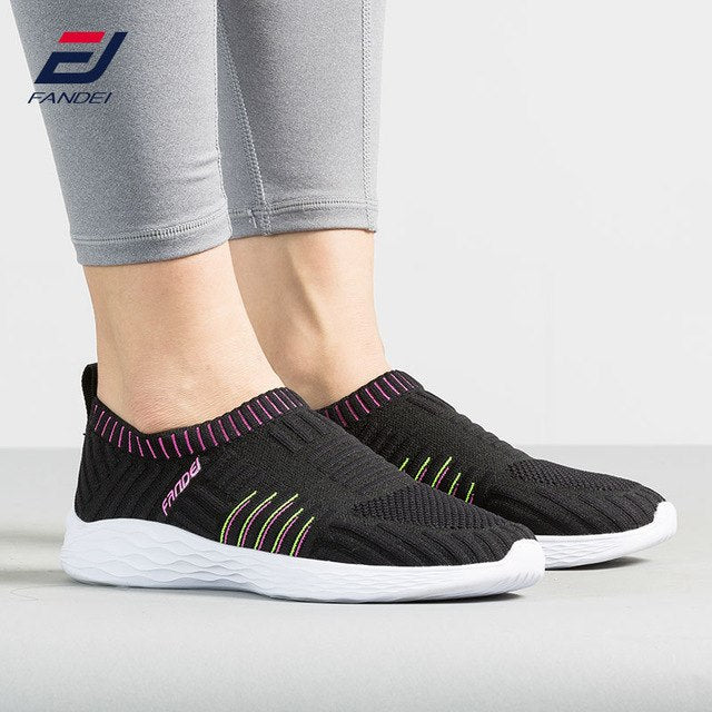 new design walking shoes women breathable sneakers comfortable