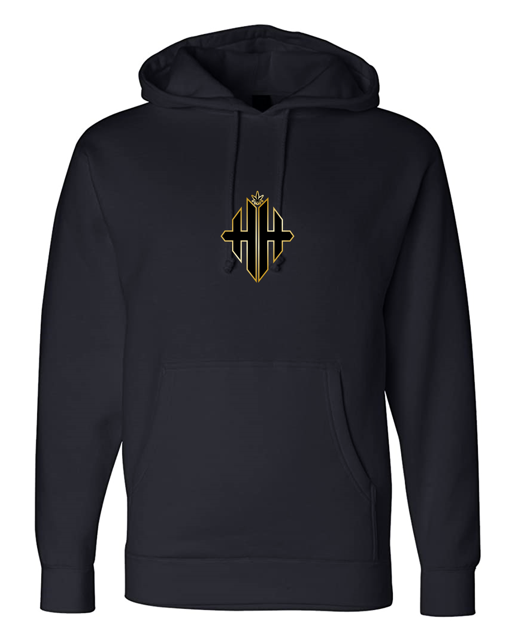 Herbman Hustlin 24K Monogram Hoodie - Black/Metallic Gold -LIMITED EDITION
