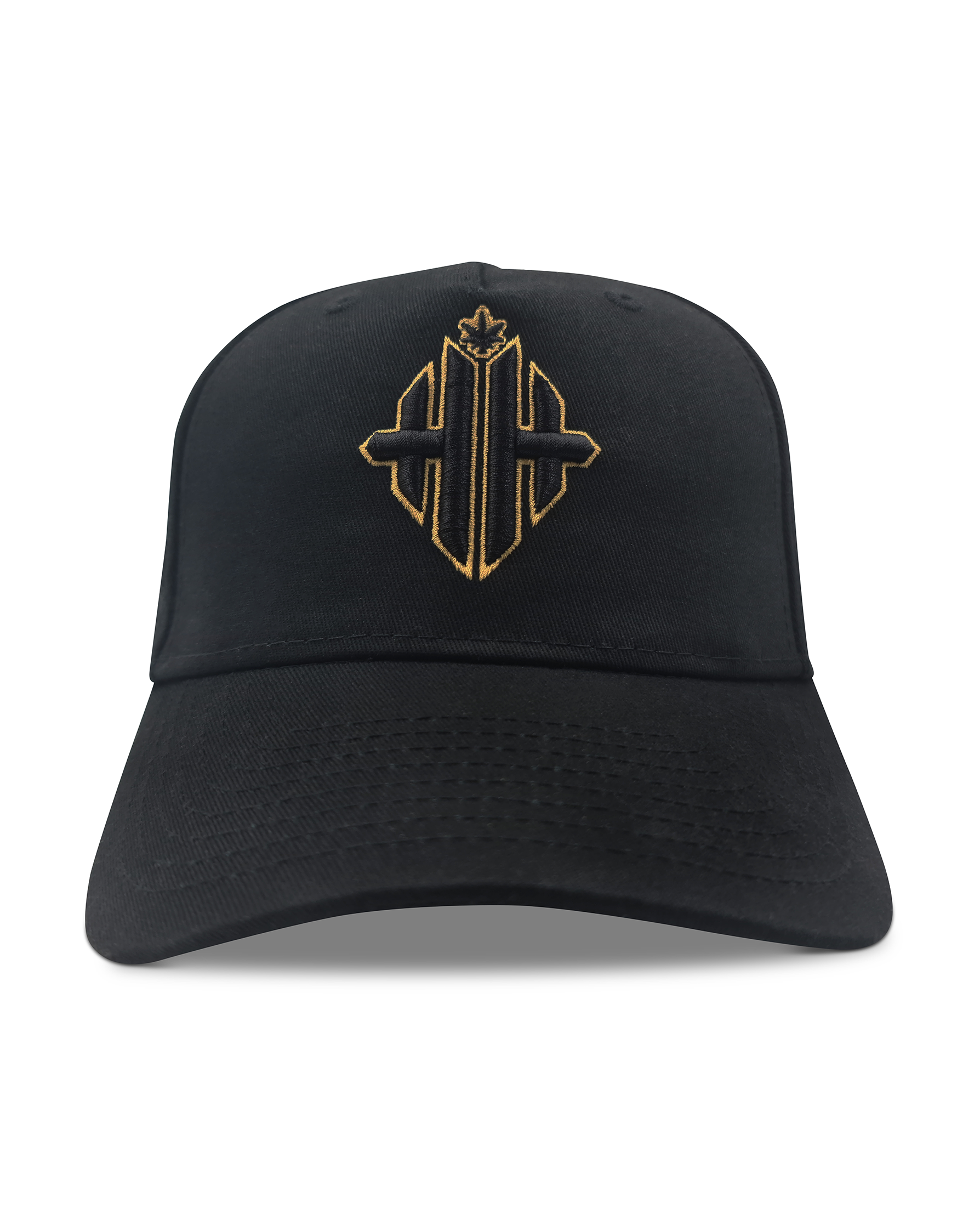 Herbman Hustlin 24k Monogram Cap - Black/Metallic Gold -LIMITED EDITION