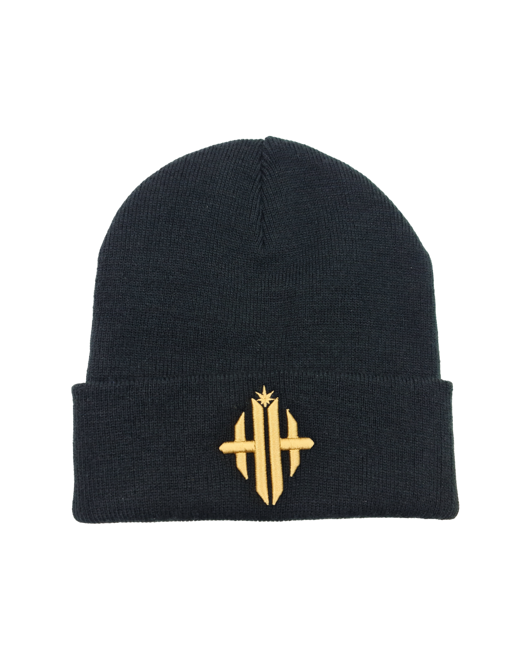 Herbman Hustlin Monogram Beanie - Black/Gold