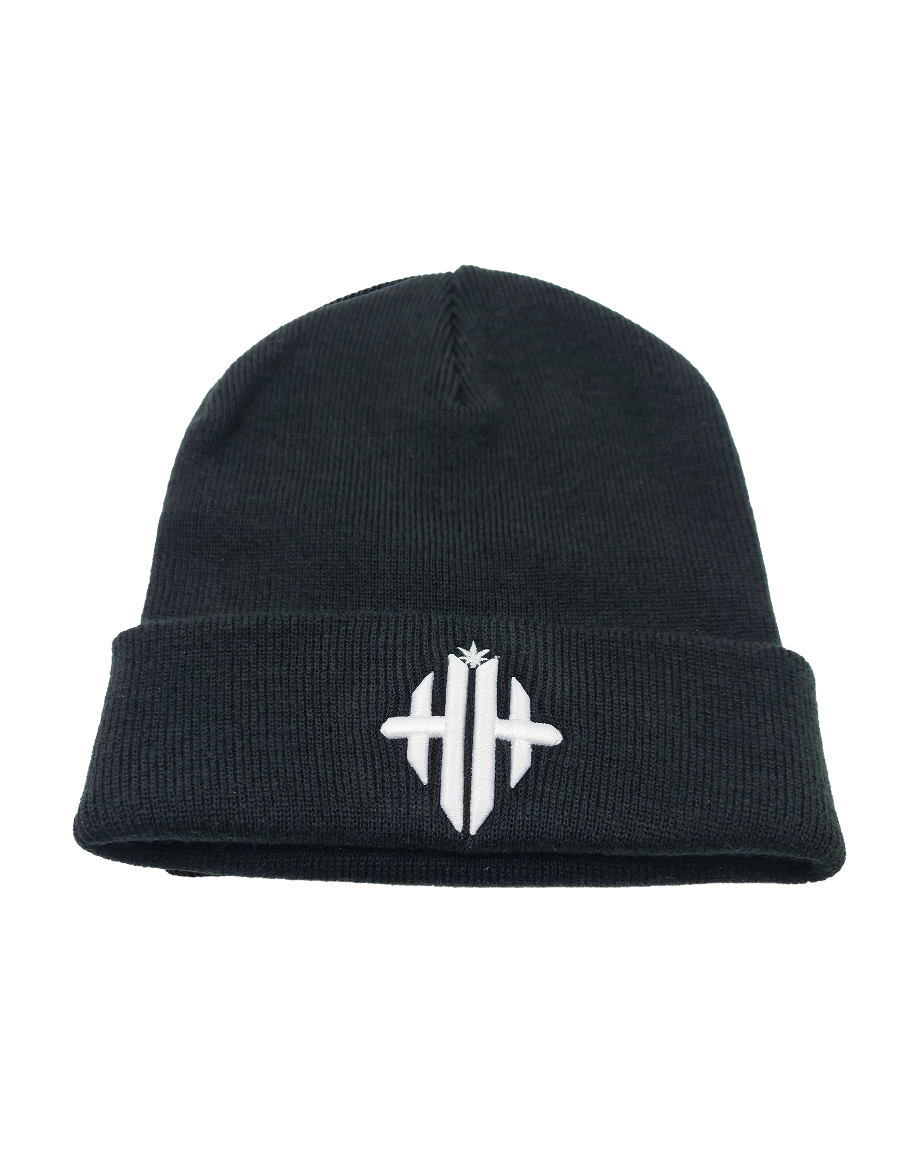 Herbman Hustlin Monogram Beanie - Black/White