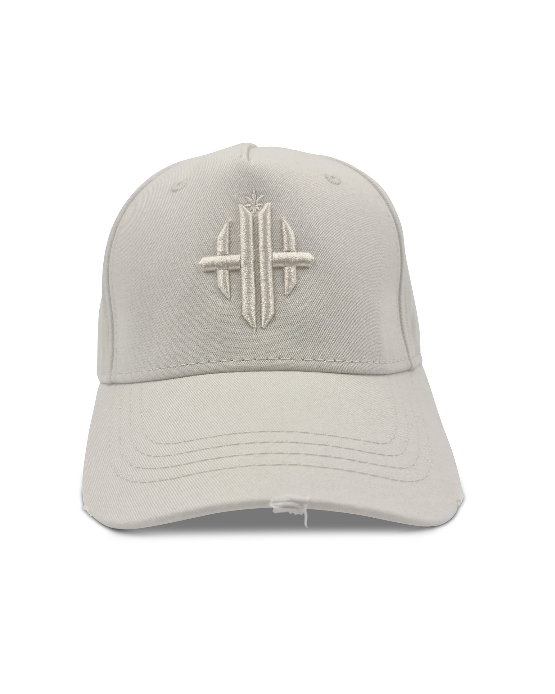Herbman Hustlin Monogram Cap - Cream/Cream LIMITED EDITION - Front