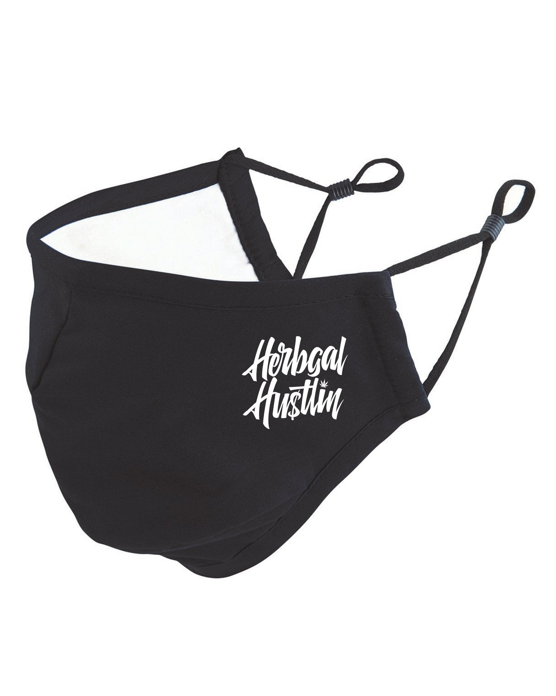 Herbgal Hustlin Script 3 Layer Mask - Black/White