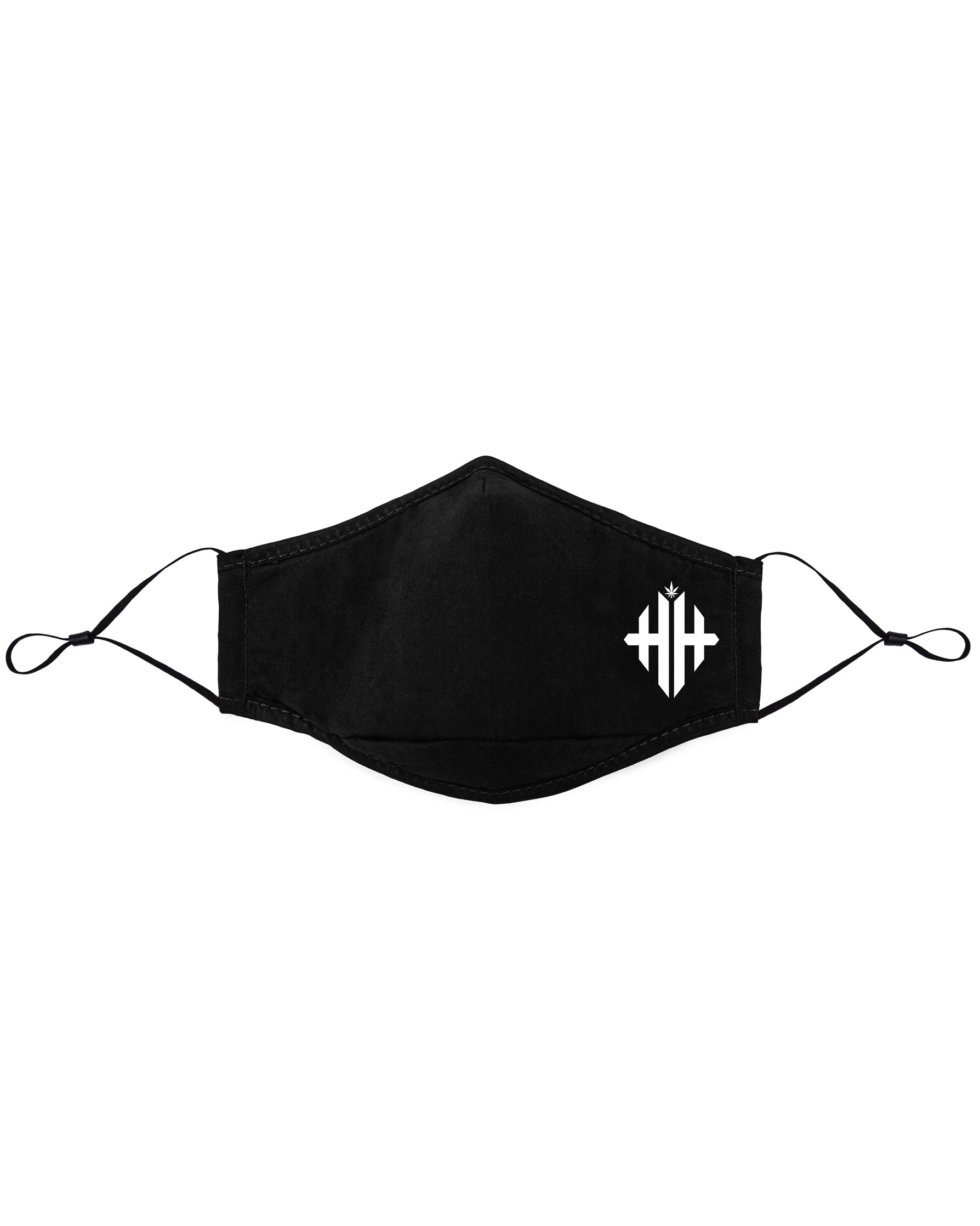 Herbman Hustlin Monogram 3 Layer Mask - Black/White