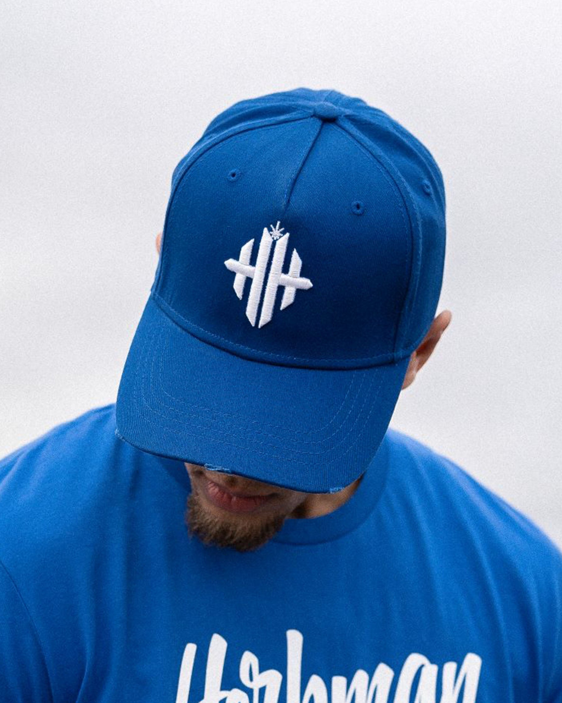 Herbman Hustlin Monogram Cap - Blue/White - LIMITED EDITION - Front