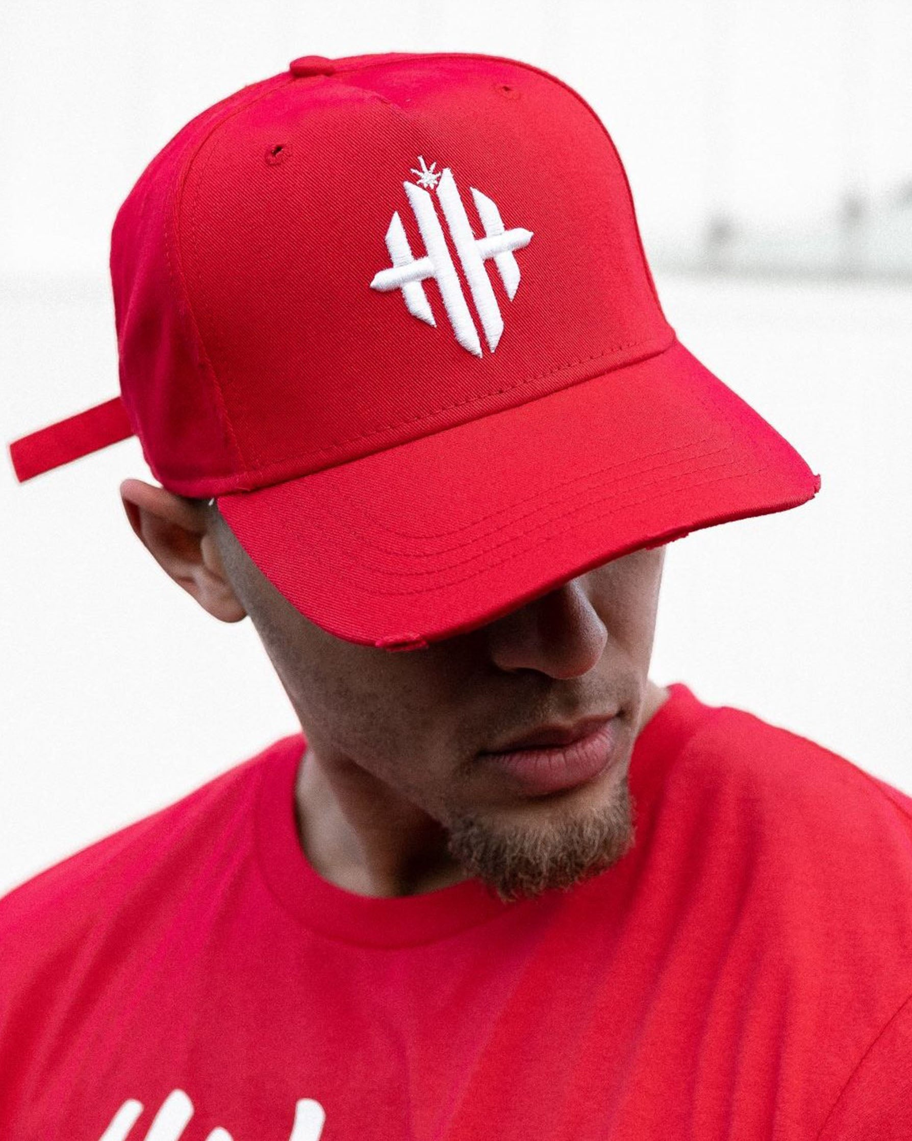 Herbman Hustlin Monogram Cap - Red/White