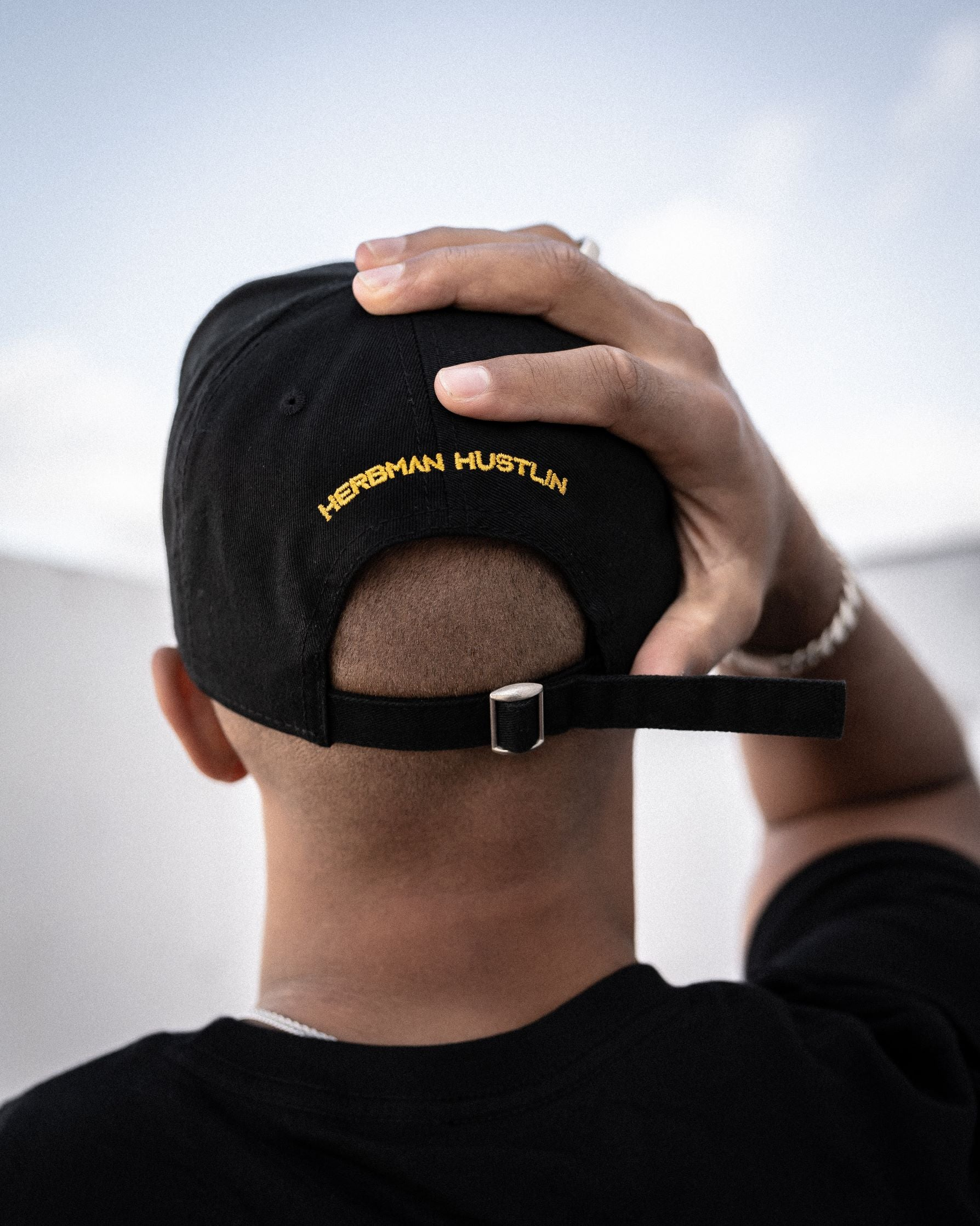 Herbman Hustlin Monogram Cap - Black/Gold