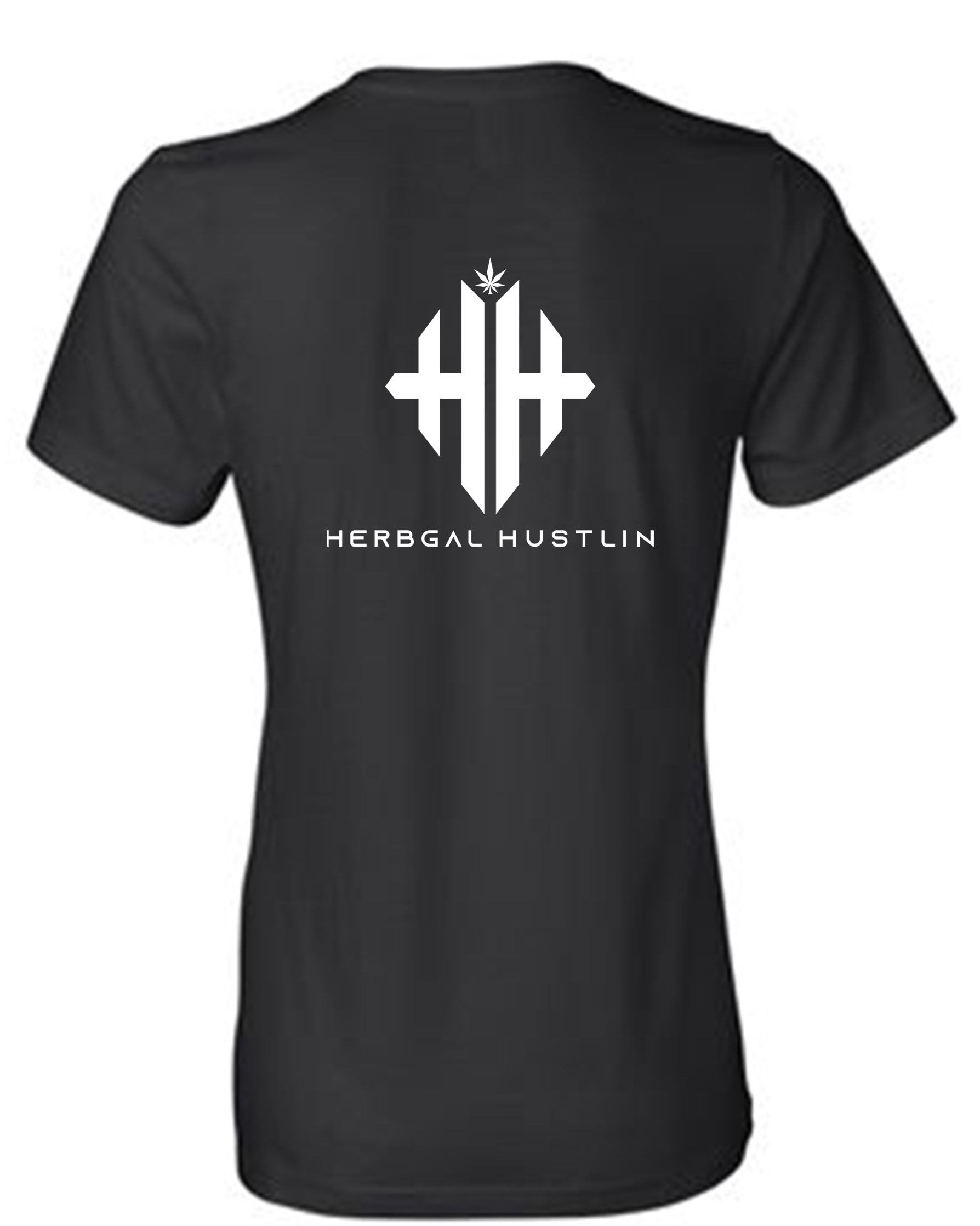 Herbgal Hustlin Monogram Slouch Tee - Black/White - Front