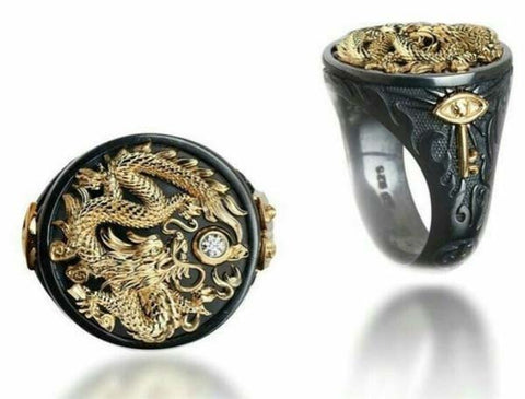 18k Gold Dragon Ring