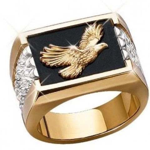 18k Gold Eagle Ring