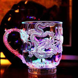 3D LED Inductive Rainbow Dragon Mug