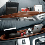 PU Leather Seat Side Phone Car Pocket