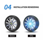 Magnetic Suspension LED Floating Wheel Cap