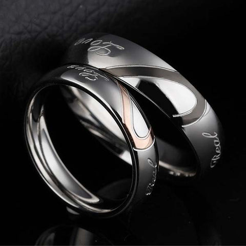 Romantic Hearts Couple Ring