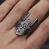 Viking Warrior Helmet Ring