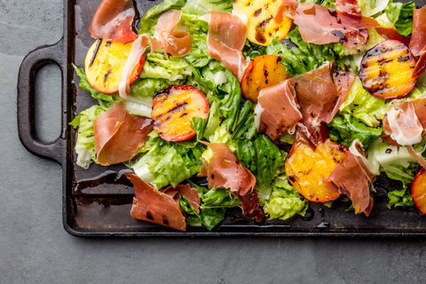 Grilled Peach & Proscuitto Salad