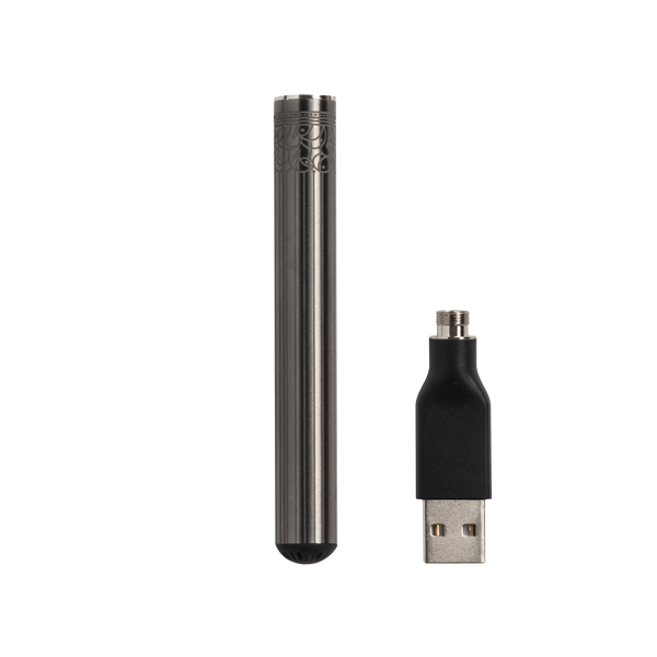 Best 510 Vape Pen Battery for Cartridges - Rechargeable, Gunmetal Etched - Bloom Farms CBD