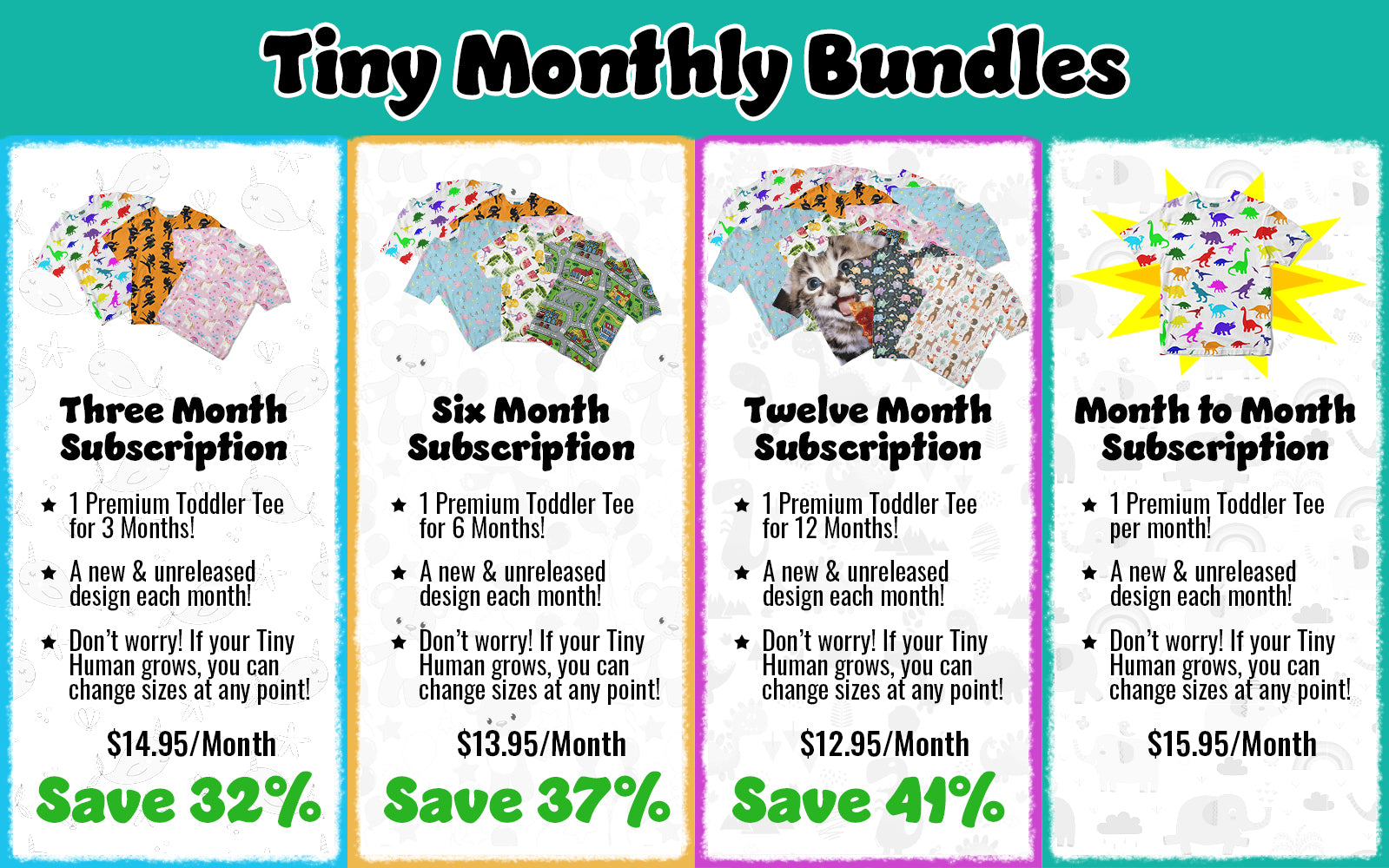 Monthly Bundles - Monthly Subscription Services for Tinyhumanclothing.com